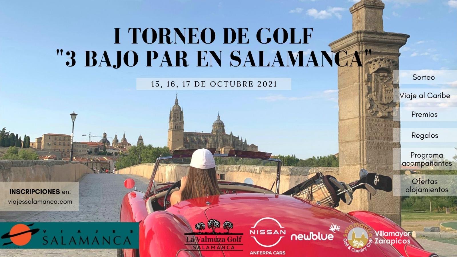 I torneo de golf 3 bajo par en Salamanca.
