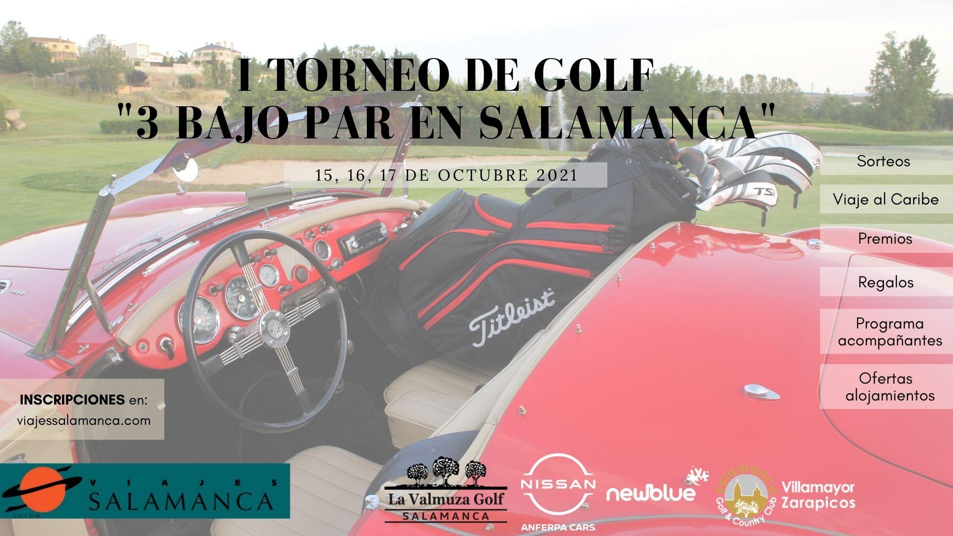 """Información I torneo golf """"3 bajo par en Salamanca """""""